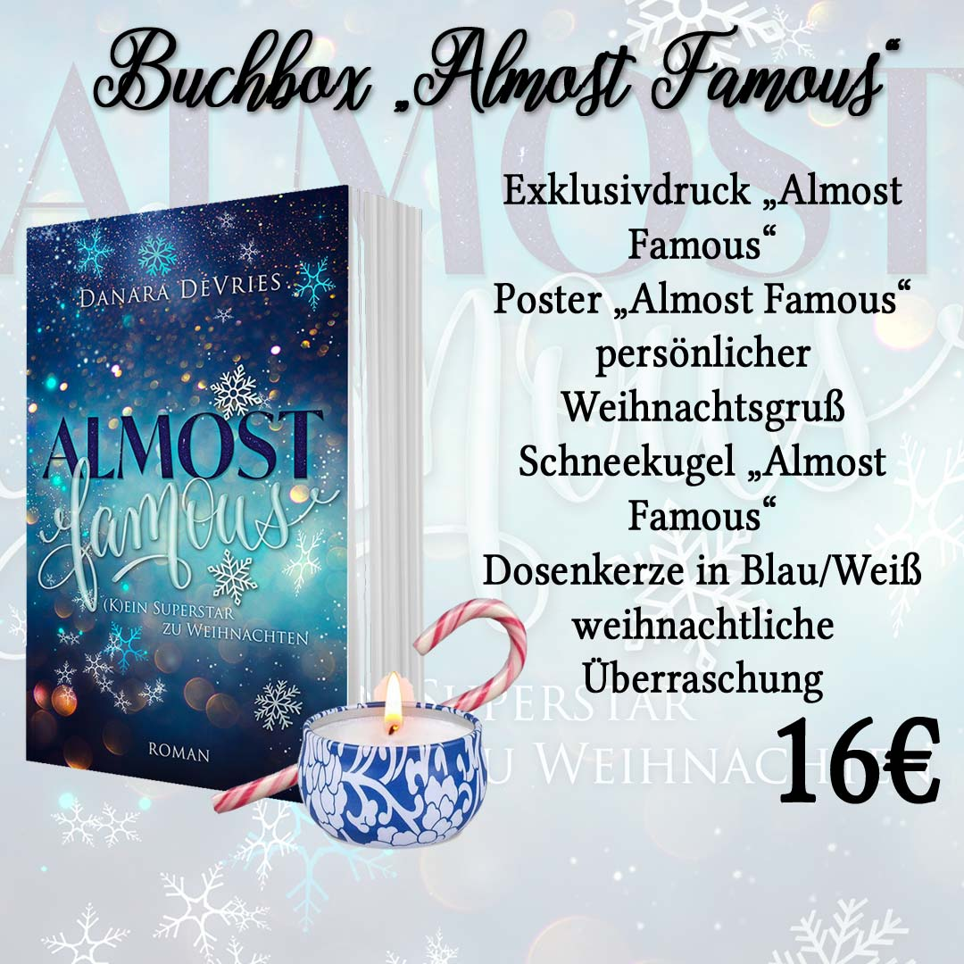 "Buchbox ""Almost Famous"" der Autorin Danara DeVries"