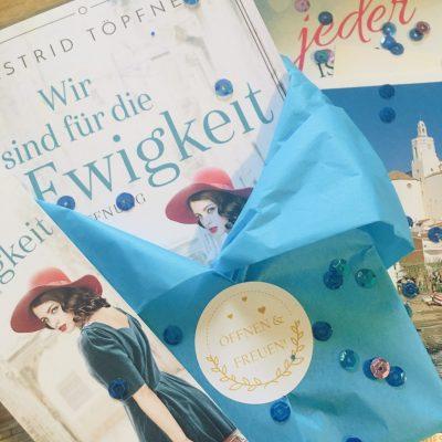 Taschenbuch Wir sind für die Ewigkeit - Hoffnung, plus Postkarten und Lesezeichen