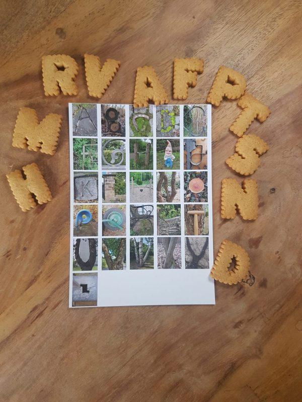 Postkarte Buchstaben