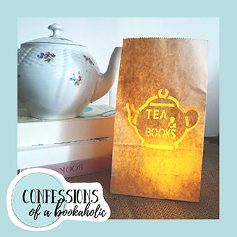 Papierlaterne Tea and Books