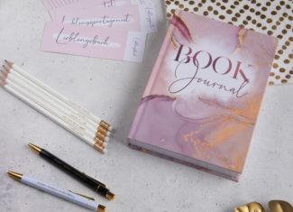 Book Journal Set rosa mit Lesezeichen und Stifteset – limitiert! – Lieblingsautor